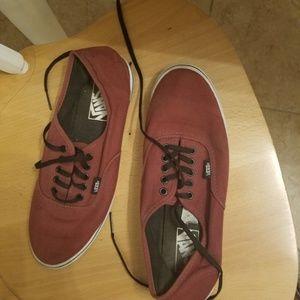 Vans Shoes - Burgundy/ wine/ dark re Vans with black shoelaces